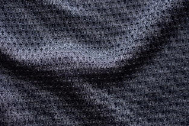 Textura de tecido preto para roupas esportivas