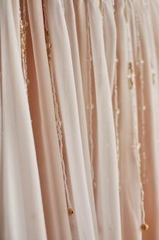 Textura de tecido rosa para abstrato