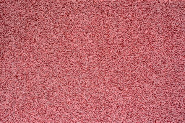 Textura de tecido sem costura melange vermelha.