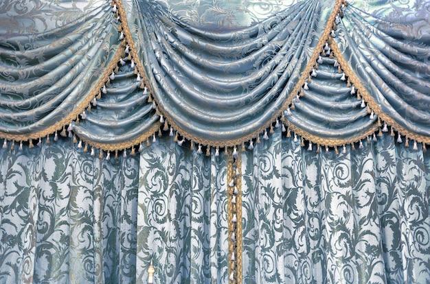 Textura de tecido têxtil de cortina de luxo para decoração