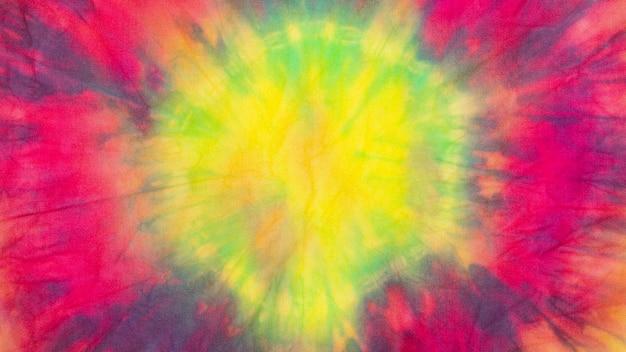 Textura de tecido tie-dye gradiente multicolorido