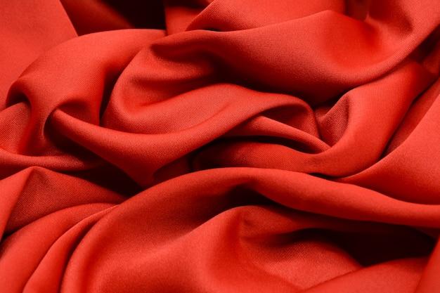 Textura de tecido vermelho luxo