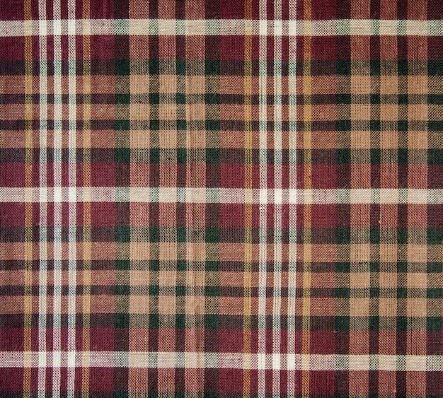 Textura de tecido xadrez. pano de fundo