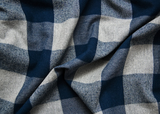 Textura de tecido xadrez