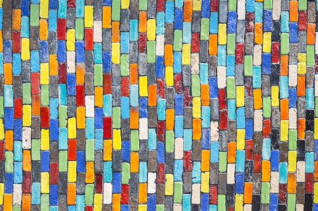 Textura de telha de parede decorativo cerâmica colorida e fundo