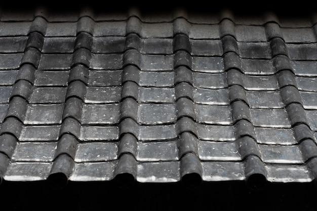 Textura de telhado antigo chinês uma inclinação