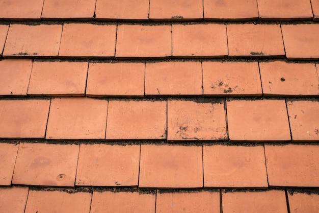 Textura de telhado de cerâmica marrom para fundo