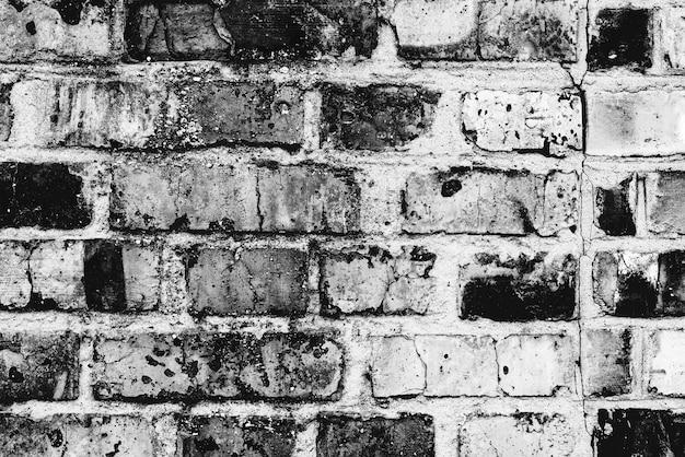 Textura de tijolo com arranhões e rachaduras