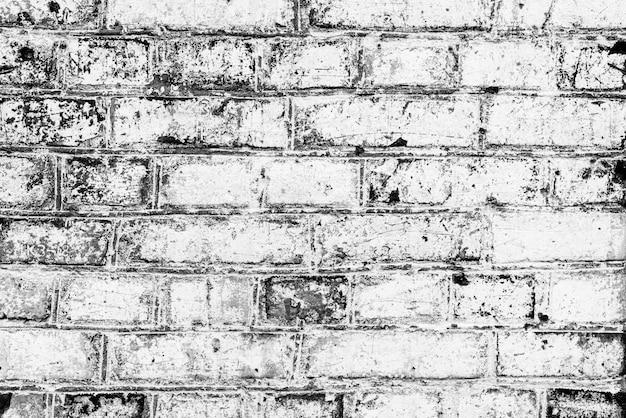 Textura de tijolos com arranhões e rachaduras