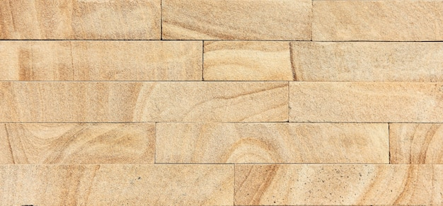 Textura de tijolos de arenito dourado