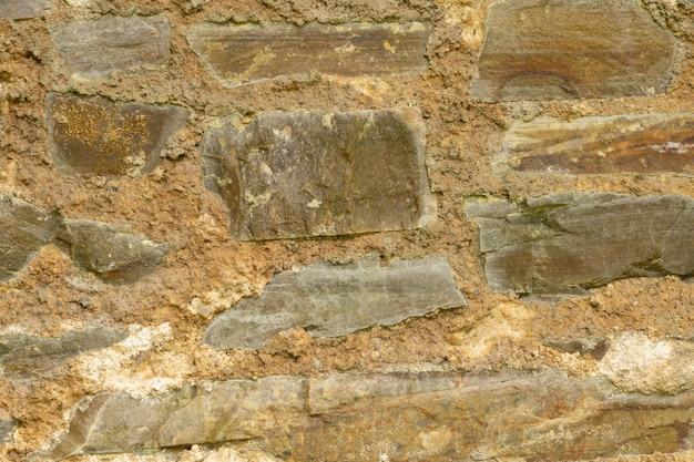 Textura de tijolos de pedra e cimento
