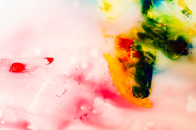Textura de tinta colorida abstrata água