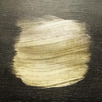 Textura de traçado de pincel dourado