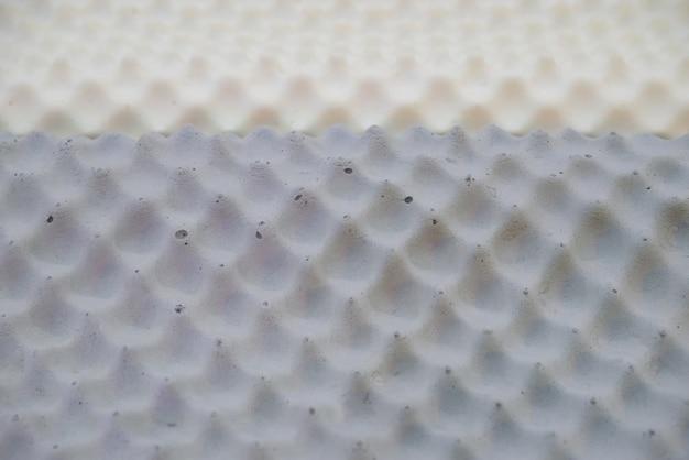 Textura de travesseiro de látex.