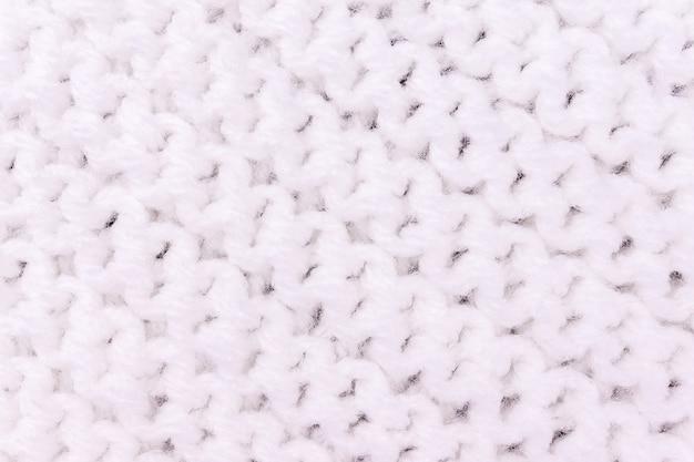Textura de tricô para cor branca