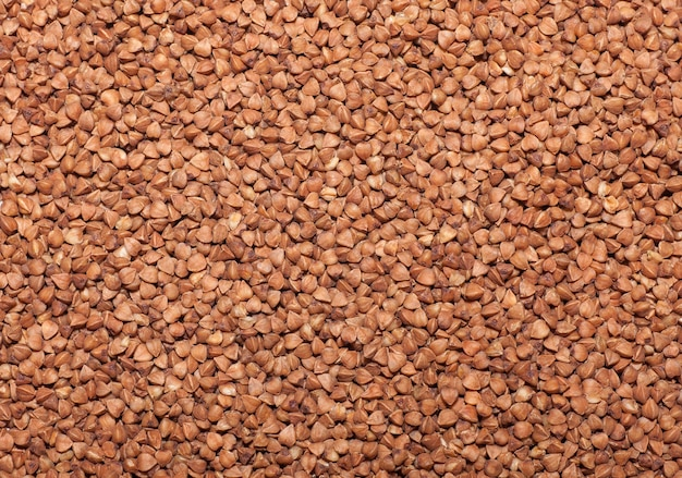 Textura de trigo sarraceno, fotografia de alta qualidade de grumos de trigo sarraceno premium