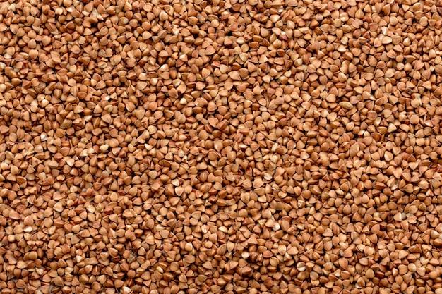 Textura de trigo sarraceno. texturas de grãos de trigo sarraceno. comida saudável. vista do topo.