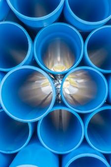 Textura de tubos de pvc