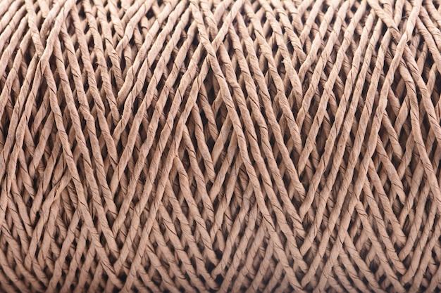 Textura de um fundo de corda trançada