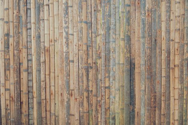 Textura de um fundo de madeira de bambu marrom