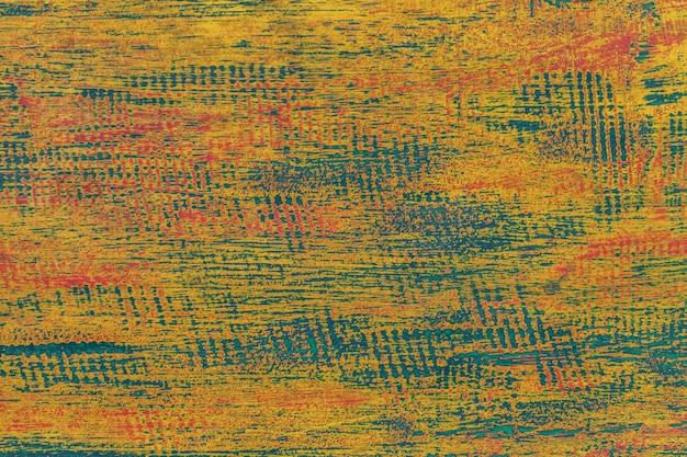 Textura de um fundo de madeira gasto velho verde e azul.