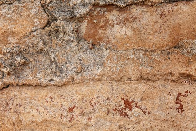 Textura de um fundo marrom da parede bricked-up.
