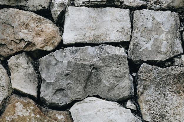 Textura de um velho muro de pedra.