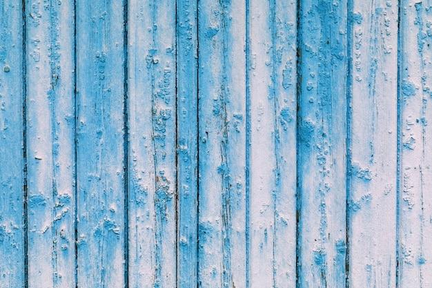 Textura de uma árvore pintada em close-up de cor azul e branco
