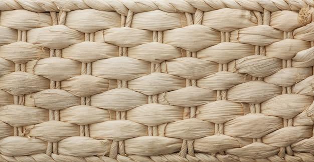 Textura de uma cesta de vime branca
