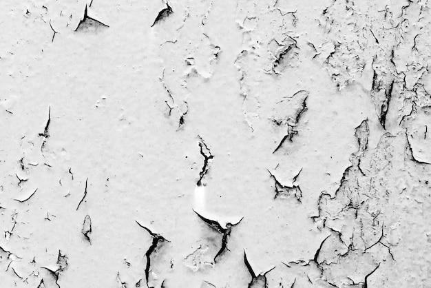 Textura de uma parede de metal com fundo de rachaduras e arranhões