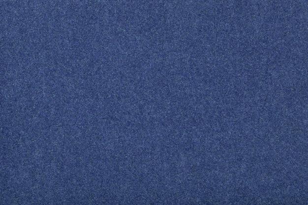 Textura de veludo de tecido de camurça mate azul marinho de feltro,