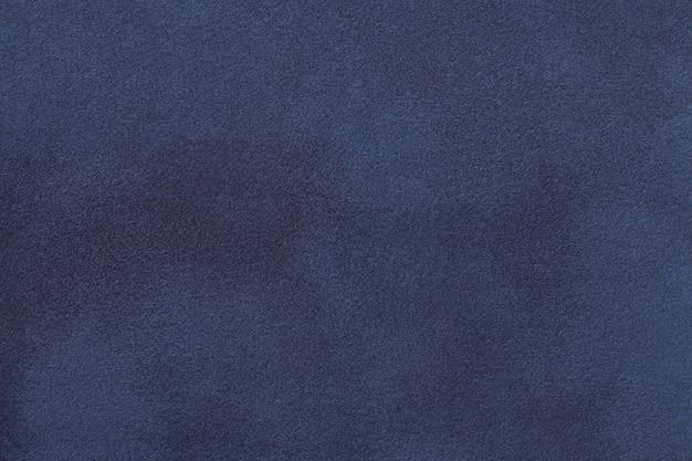 Textura de veludo de tecido de camurça mate azul marinho,