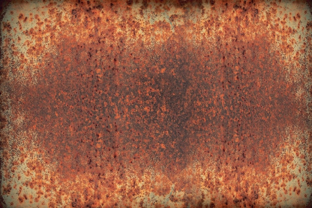 Textura de vermelho resistiu a ferro ou chapa de ferro enferrujado metal, fundo de indústria