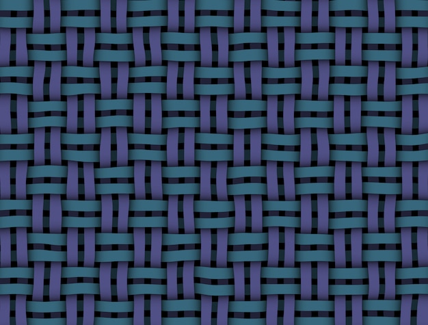 Textura de vime azul-roxo na cor