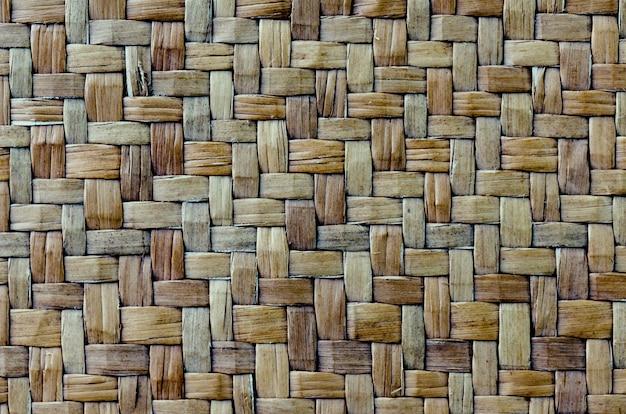 Textura de vime com ramos tradicionais e secos feitos à mão, fundo de vime texturizado de vime.