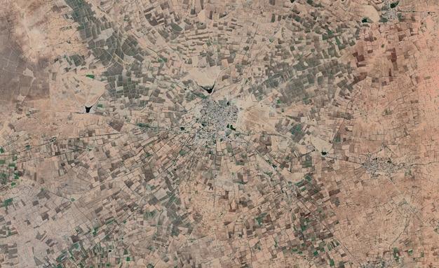 Textura de vista superior de satélite sobre a índia