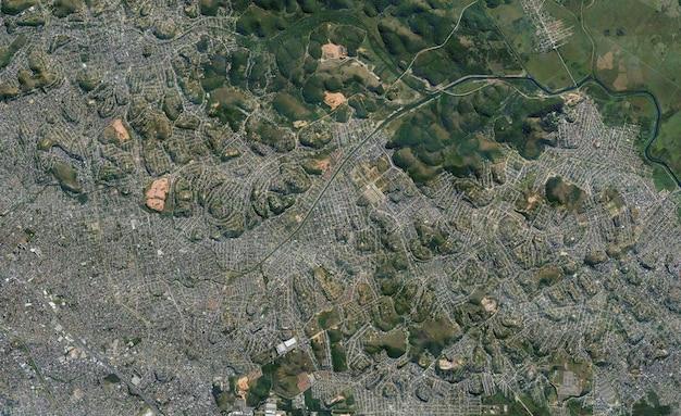 Textura de vista superior de satélite sobre o brasil