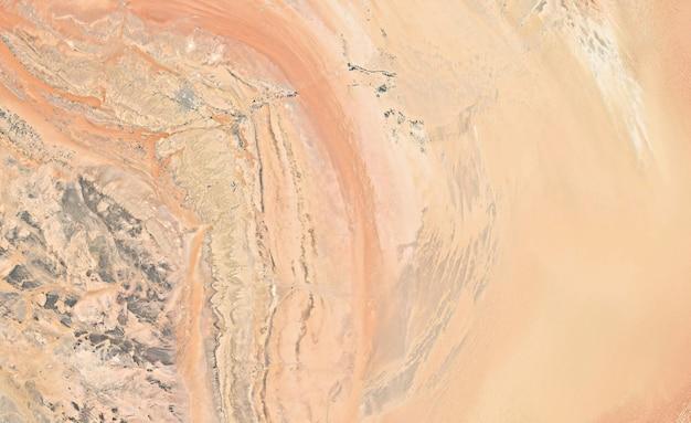Textura de vista superior de satélite sobre o saara