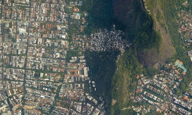Textura de vista superior do satélite sobre o brasil