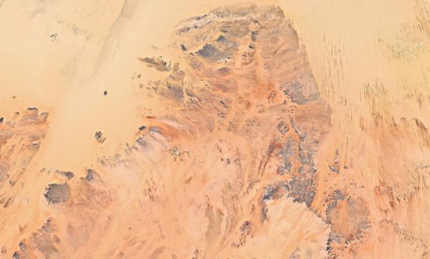 Textura de vista superior do satélite sobre o egito