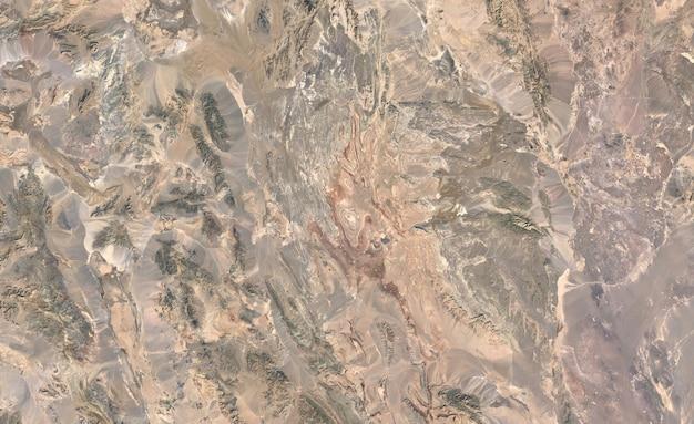 Textura de vista superior do satélite sobre o irã