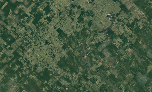 Textura de vista superior do satélite sobre o paraguai