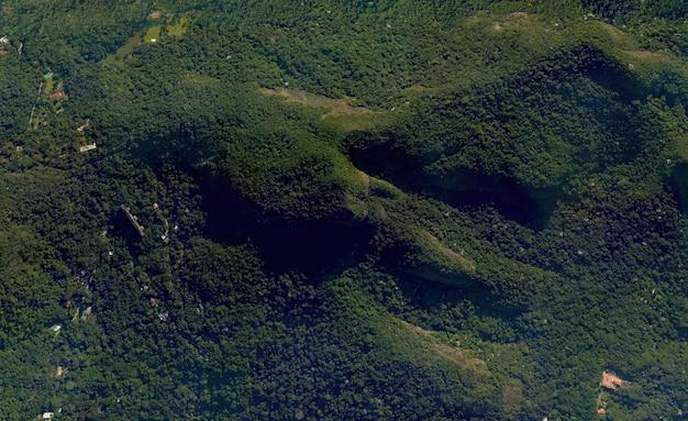 Textura de vista superior do satélite sobre o rio de janeiro