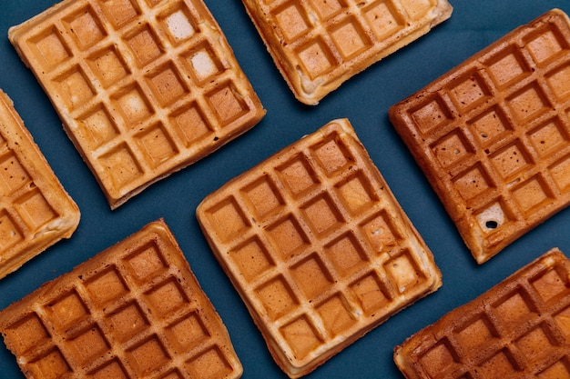 Textura de waffles belgas