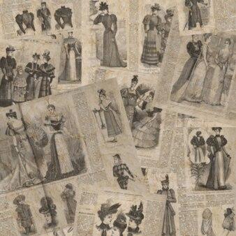 Textura desfocada de jornal vintage