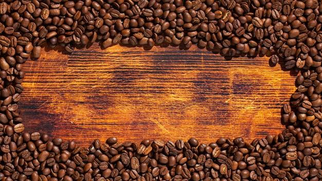 Textura detalhada de alta qualidade de café e madeira.