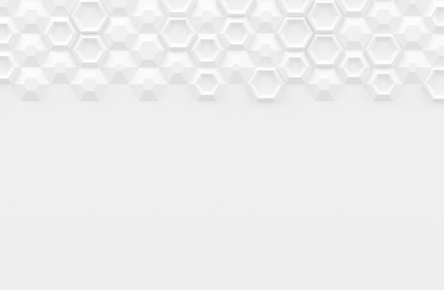 Textura digital paramétrica baseada em grade hexagonal com diferentes volumes e padrão interno ilustração 3d