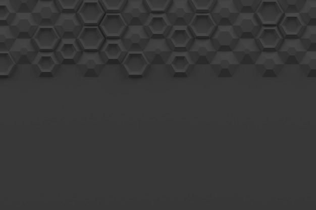Textura digital paramétrica baseada em grade hexagonal com volume e padrão interno diferentes
