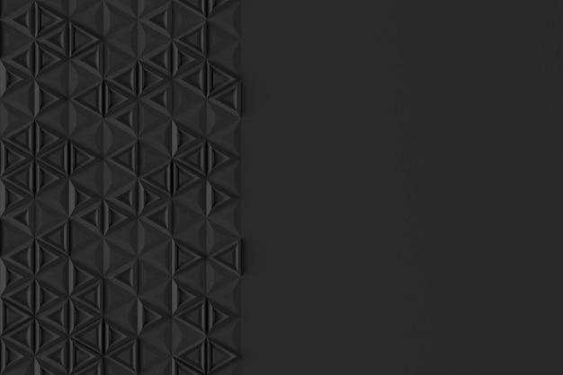 Textura digital paramétrica de triângulos com volume diferente e ilustração 3d de padrão interno