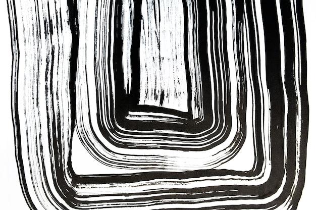 Textura do círculo da pincelada em preto. isolado em fundo branco abstrato